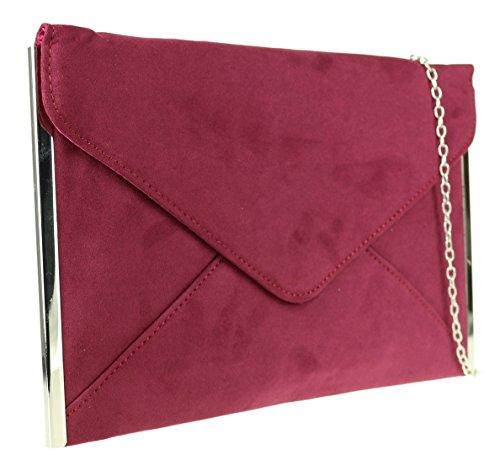 Pochette Handbags bordeaux femme Girly pour qRwd5xZax