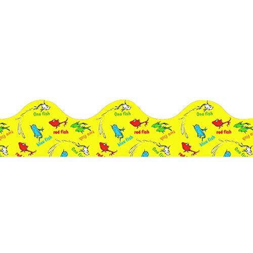 (Eureka Deco Trim - 12 Strips - Dr Seuss One Fish Two)