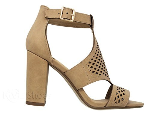MVE Shoes Women's Ankle Strap Almond Toe Pumps-Shoes