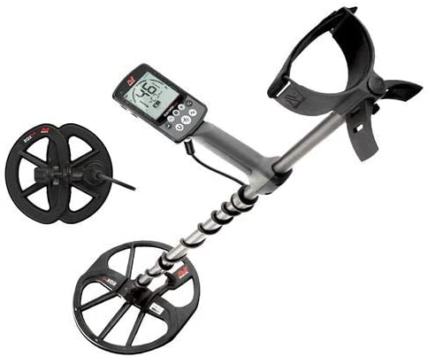 Minelab Equinox 600 All Terrain Waterproof Metal Detector with 11in Double-D Smart Search Coil, 5, 10, 15kHz and Multi Frequency – Bundle 6in EQX 06 Round Double-D Smart Search Coil