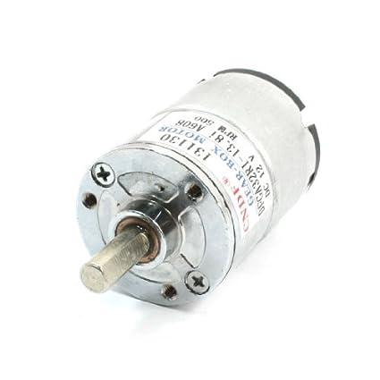 Amazon.com: DealMux DFGA32RI-13.8i Substituição elétrica DC12V 500rpm 2 Terminal engrenagem Motor: Automotive
