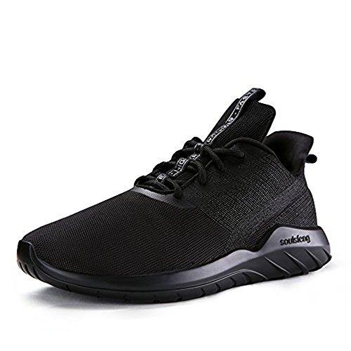 Atletica Soulsfeng da Unisex Sportive da Scarpe Casual Nero e Donna Leggero Scarpe Corsa Uomo Moda Traspirante Sneakers rqB7rPw