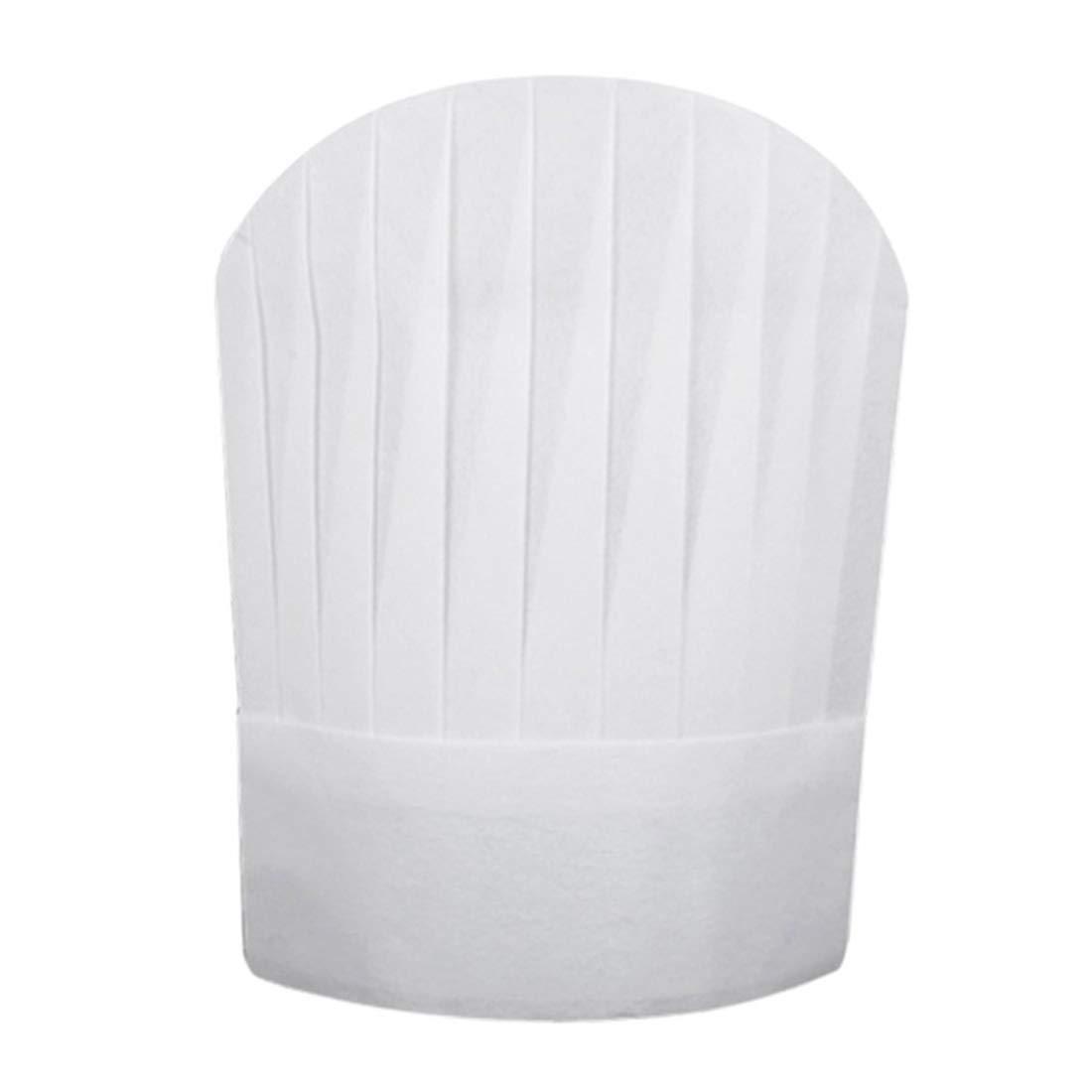 FREAHAP R Chapeau Cuisinier Blanc Toque de Chef Jetable Lot de 20#1 S