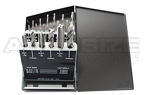 AccusizeTools - 18 Pcs/Set H.S.S. Tap & Drill Set, Metric, #0001-0052 by Accusize Industrial Tools