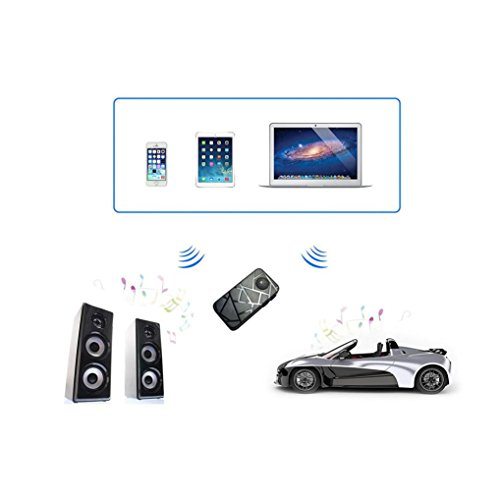 Wireless 2.4GHz Bluetooth 2.0 Stereo Receiver with 3.5mm Jack Black - 2