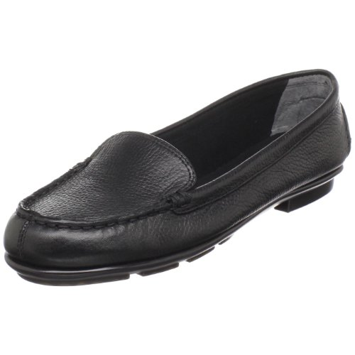 Aerosoles Women's NU Day Slip-On Loafer Black Leather k9J6Pxr