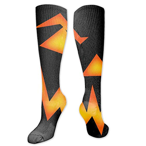 Scary Halloween Face Digital Painting Unisex Novelty Crew Winter Socks For Women Compression Socks
