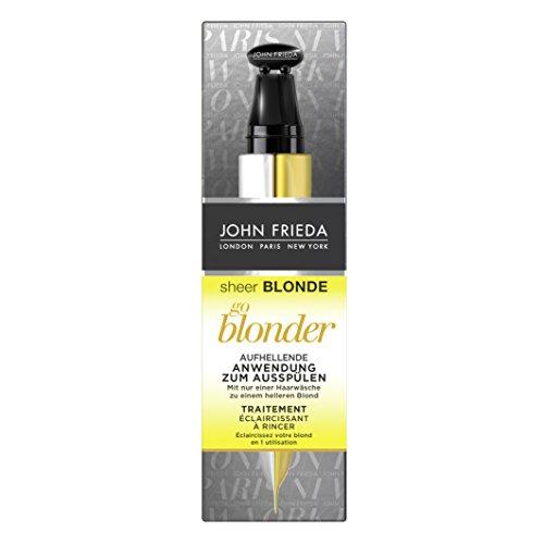 John Frieda Sheer Blonde Go Blonder Aufhellende Anwendung zum Ausspülen, 4er Pack (4 x 34 ml)