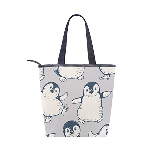 Cute Handbag MyDaily Tote Canvas Womens Tote MyDaily Bag Shoulder Canvas Penguins caATc0vqw