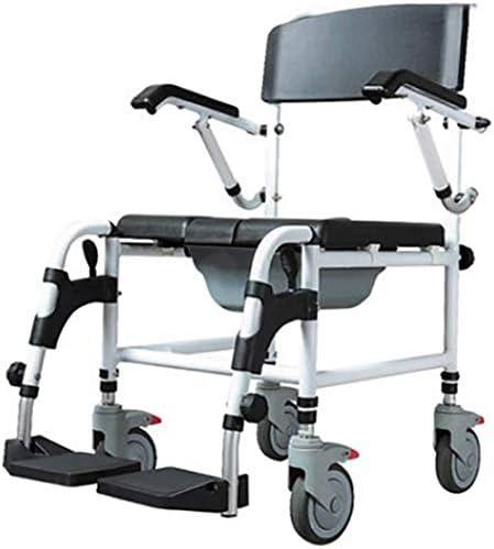 高齢者障害者のための適切なトイレ便器椅子、取り外し可能なアームレストとペダルとアルミ合金折りたたみ、シャワーシャワーチェア、