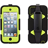 Griffin Black/ Citron Survivor Case + Belt Clip for iPod touch (5th/ 6th gen.) - Extreme-duty case