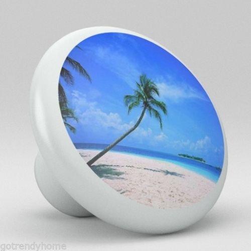 (Big-Deal - Beach Ocean Palm Tree Ceramic Knobs Pulls Kitchen Drawer Cabinet Vanity 190 )
