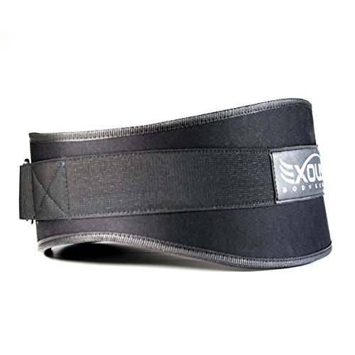 Performance Weight Lifting Belt 5.5inch Lumber Back Support - Adjustable Velcro Ergonomically Shaped For Squats, Power lifting - Olympic Lifts (large)