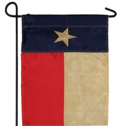 Moon EMBROIDERED TEXAS TEA STAINED VINTAGE GARDEN BANNER/FLAG 12''X18'' SLEEVED POLY - Vivid Color and UV Fade Resistant - Prime Outside Garden Home (12' Vintage Flag)