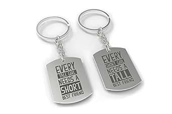 Amazon Com Bff Key Chain Set Short Girl And Tall Girl Best Friend