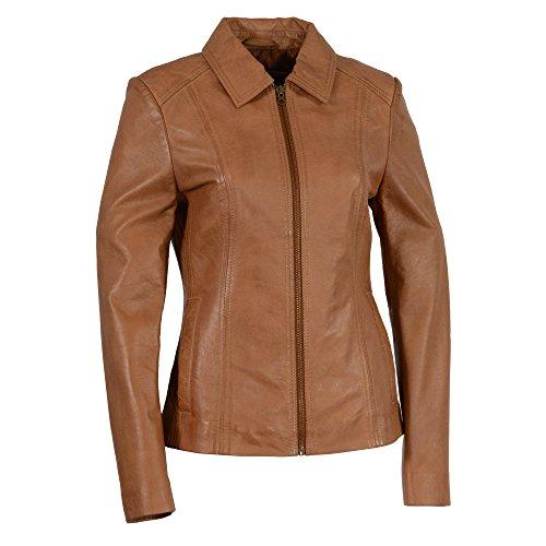 Milwaukee-Leather-Womens-Zipper-Front-Scuba-Jacketwith-Shirt-Collar