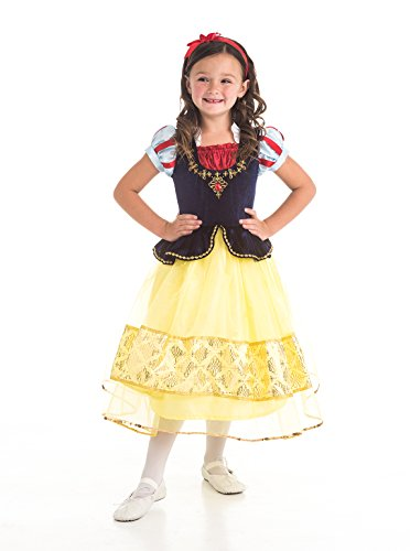 Standard Child Snow White Costumes (Little Adventures Deluxe Snow White Dress Up Costume for Girls - Medium (3-5 Yrs))