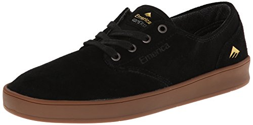 Emerica Men's The Romero Laced Skateboarding Shoe,Black/Gum,8 M US