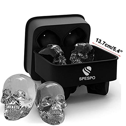 Big Size 3D Skull Ice Cube Moulds ,Spespo Silicone Ice Cube Tray...