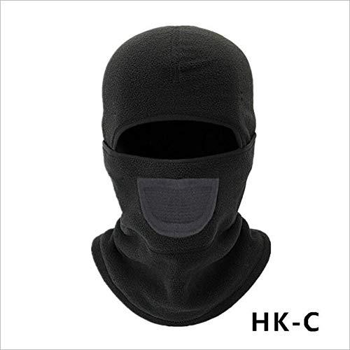 - Tckoudai Warm and Windproof Hood, Riding Mask Winter Outdoor Plus Velvet Bib Cold Smog Mask Warm Hat/A,HKC