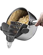 BaodeLi Snap 'N Strain Strainer, Clip On Silicone Colander, Fits All Pots and Bowls