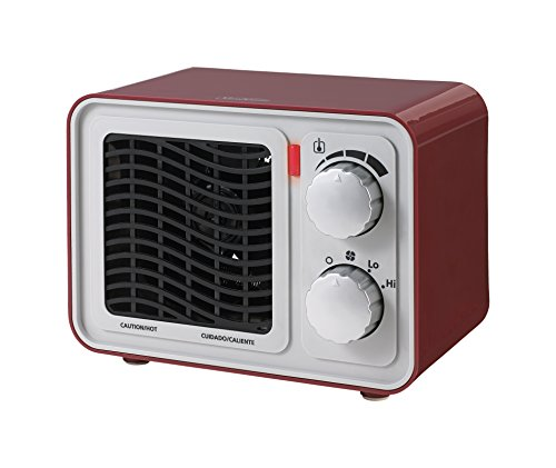 Sunbeam SFH5264MR-UM Retro Radio Heater Fan, Small, Red (Small Fan Colorful compare prices)