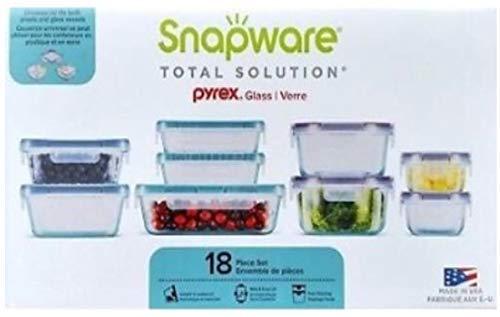 Snapware 18-piece Pyrex Glass Food Storage Set (Purple & Blue)