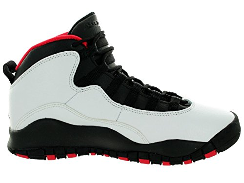 Nike Air Jordan 10 Retro Bg, Zapatillas de Deporte para Niños Blanco / Negro / Rojo (White / Black-True Red)