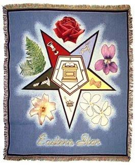 Masons Masonic Order of the Eastern Star Afghan Throw Blanket