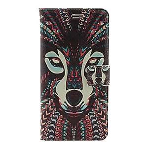 modelo del perro azteca caso de cuero de la PU con el soporte y la ranura para tarjeta para el iPhone 6 Plus