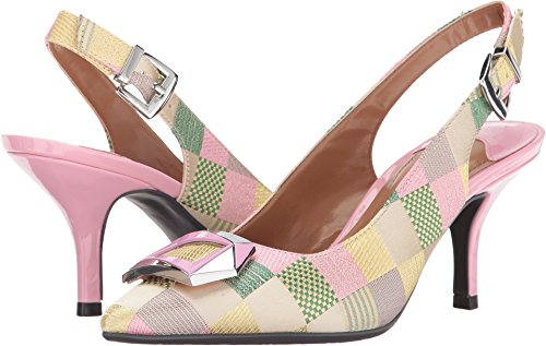 J.Renee Women's Lloret Pointed Toe Slingback,Pastel Multi Fabric,US 7 (Sling Pastel)
