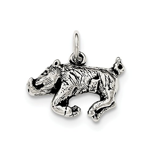 925 Sterling Silver 3 D Wild Boar Pendant Charm Necklace Animal Fine Jewelry Gifts For Women For -