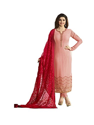 Ready Made New Designer Indian/Pakistani Fashion Salwar Kameez for Women (Light Pink, XX LARGE-46)