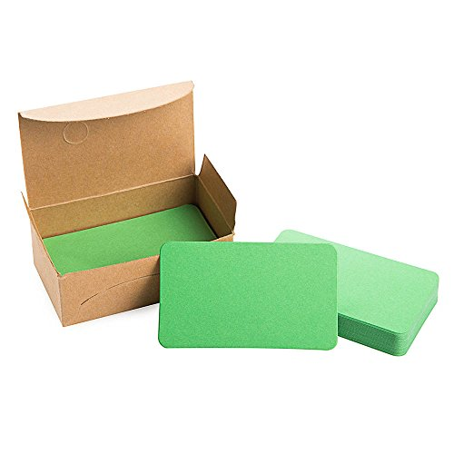 Green Cards Apple (ZOOYOO Blank Apple Green Cardboard paper Message Card Business Cards Word Card DIY Tag Gift Card About 100pcs)