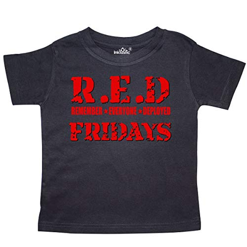 inktastic - Red Fridays (red) Toddler T-Shirt 3T Black 10229