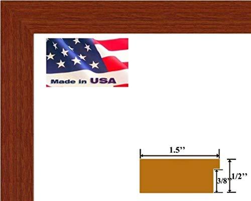 (US Art 16x20 Elegant 1.5 inch Red Oak Flat Wall Decor Picture Poster Photo Frame Wood Composite MDF #REDOAK )