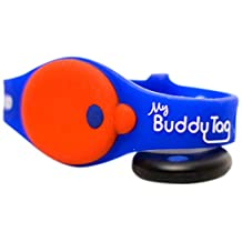 My Buddy Tag with Silicone Wristband, Blue
