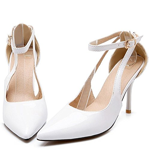 Cheville RAZAMAZA Escarpins Femmes White Bride qxx1A0wE