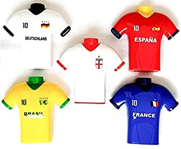 5x Camiseta de Fútbol Doble orificio sacapuntas International COPA NOVEDAD