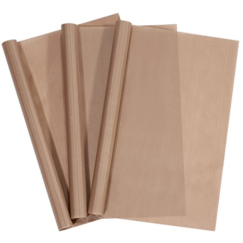 3 Pack PTFE Teflon Sheets for Stick Craft Mat Sheet Heat Press Transfer Sheet (16 x 20 Inch)