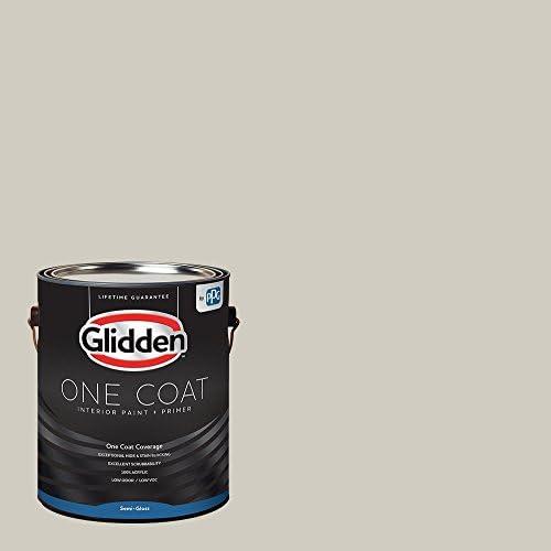 Glidden Interior Paint Primer Greige Whiskers One Coat Semi Gloss 1 Gallon Amazon Com Home Improvement