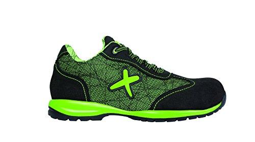Exena Jerez - Calzado de protección laboral, talla 44, color verde y negro Verde Y Negro
