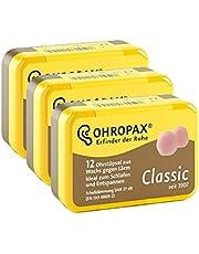 Ohropax Classic oordopjes, 12 stuks (3 verpakkingen à 18 paar)
