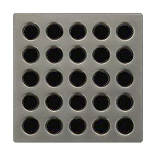 Ebbe E4405 Square Shower Drain Grate, Antique Pewter ()