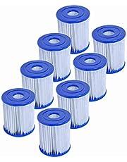 Denkmsd Voor Bestway I type filterpatronen, filter voor Pool Bestway 58381 type I, vervanging voor filtercartridges, accessoires voor zwembadfilters.