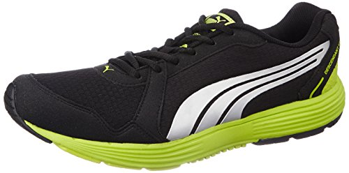 Puma Men's Descendant v2 IDP Black-Puma Silver-Lime Punch...