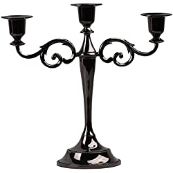 3-Candle Metal Candelabra,Black