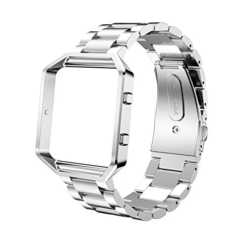LEEFOX Compatible with Blaze Band and Frame, Stainless Steel Metal Replacement Strap Frame Bracelet Large Small Wrist Band Accessories for Blaze Smart Watch Tracker Women Man - -