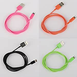 buy Lightning 8Pin Colorful Charge and Data Cable for iPhone 5,iPad Mini,iPad 4,iPod (100cm-Length) , Orange