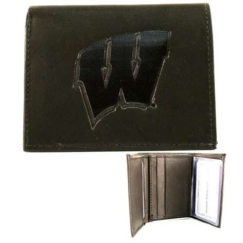 Wisconsin Badgers Black Leather - 7
